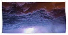 Another Impressive Nebraska Night Thunderstorm 007 Bath Towel