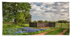 Bluebonnet Ranch Road Bath Towel