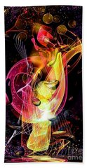 Bath Towel featuring the digital art Another Space By Nico Bielow by Nico Bielow