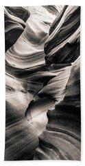Antelope Canyon Bw Bath Towel