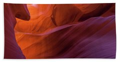 Antelope Canyon Fire Bath Towel