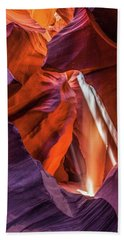 Antelope Canyon Lightshaft 3 Bath Towel