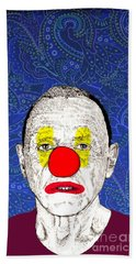 Bath Towel featuring the drawing Anthony Hopkins by Jason Tricktop Matthews