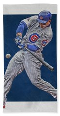 Anthony Rizzo Chicago Cubs Art 1 Bath Towel