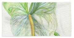 Anthurium Bath Towel