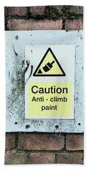 Anti-climb Paint Warning Hand Towel