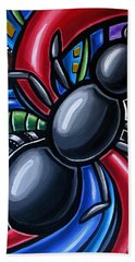 Ant Art Painting Colorful Abstract Artwork - Chromatic Acrylic Painting Bath Towel