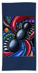 Antics - Abstract Ant Painting - Chromatic Acrylic Art - Ai P. Nilson Hand Towel