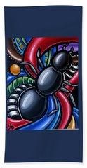 Antics - Abstract Ant Painting - Chromatic Acrylic Art - Ai P. Nilson Bath Towel