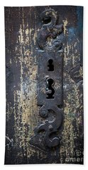 Bath Towel featuring the photograph Antique Door Lock Detail by Elena Elisseeva