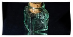 Antique Glass Bottle Bath Towel