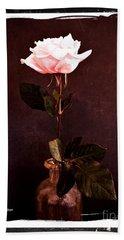 Antique Pink Rose Hand Towel