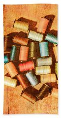 Antique Spools And Thread Hand Towel