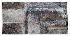 Hand Towel featuring the photograph Antique Stone Wall Detail by Elena Elisseeva