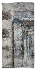 Bath Towel featuring the photograph Antique Wall Detail by Elena Elisseeva
