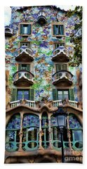 Antoni Gaudi's Casa Batllo Barcelona Spain  Hand Towel