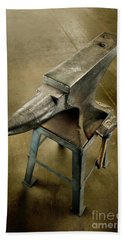 Hand Towel featuring the photograph Anvil And Hammer by YoPedro