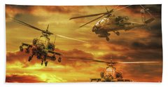 Hand Towel featuring the digital art Apache Attack by Randy Steele