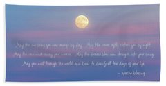 Apache Blessing Harvest Moon 2016 Hand Towel
