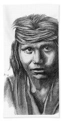 Apache Boy Bath Towel by Lawrence Tripoli