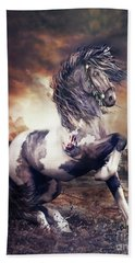 Apache War Horse Bath Towel