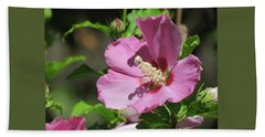 Aphrodite Rose Of Sharon Hibiscus -  Floral - Macro Photography Bath Towel