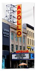 Bath Towel featuring the photograph Apollo Theater by Randall Weidner