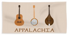Appalachia Music Hand Towel by Heather Applegate