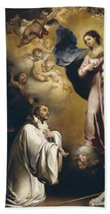 Apparition Of The Virgin To Saint Bernardo  Hand Towel