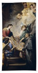 Apparition Of The Virgin To Saint Ildefonso  Hand Towel