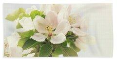 Apple Blossom Retro Style Processing Bath Towel