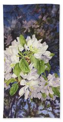 Apple Blossoms At Dusk Hand Towel