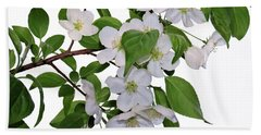 Apple Blossoms Hand Towel by Nina Bradica