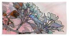 Bath Towel featuring the digital art Apple Blossoms by Stuart Turnbull