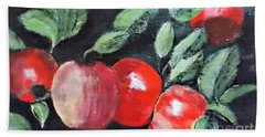 Apple Bunch Hand Towel by Francine Heykoop
