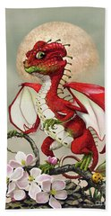 Hand Towel featuring the digital art Apple Dragon by Stanley Morrison