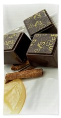Apple Honey Cinnamon Chocolate Hand Towel by Sabine Edrissi