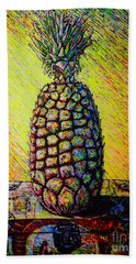 Hand Towel featuring the painting Apple ..of The Pine by Viktor Lazarev