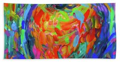 Bath Towel featuring the painting Apple Splash by Kendall Kessler