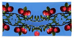 Bath Towel featuring the photograph Apples Bramble by Adria Trail