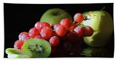 Apples, Grapes And Kiwi  Hand Towel