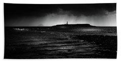 Approaching Storm, Ailsa Craig And Pladda Island Bath Towel