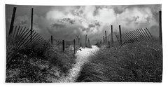 Approaching Storm Hand Towel by John Rivera