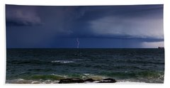Approaching Thunder Storm Bath Towel