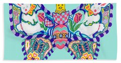 April Butterfly Bath Towel