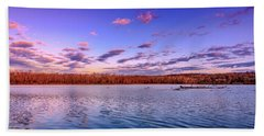 Hand Towel featuring the photograph April Evening At The Lake by Allin Sorenson