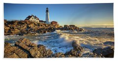 April Morning At Portland Head Bath Towel by Rick Berk