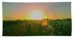 Hand Towel featuring the photograph April Sunrise by Anne Kotan