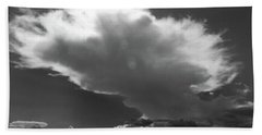 Aproaching Storm In Bw Bath Towel by Mary Haber