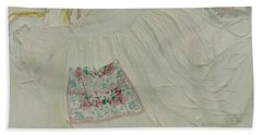 Apron On Canvas - Mixed Media Bath Towel